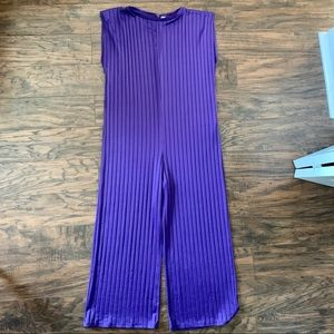 Zara purple jumpsuit